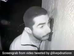Video: Man Caught On Camera Licking Doorbell For Three Hours