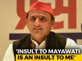 "Video: ""Insulting Mayawati Is Like Insulting Me"": Akhilesh Yadav After Announcing Alliance"