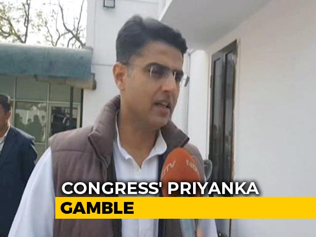 """Video : """"Must Get Our Act Together"""": Sachin Pilot On Priyanka Gandhi's New Role"""