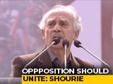 "Video : ""Bengal Tigress' Call To Oust BJP Will Be Successful"": Arun Shourie"