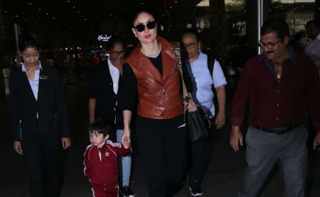 Kareena Kapoor And Taimur Touch Down In Mumbai After Vacation. See Pics
