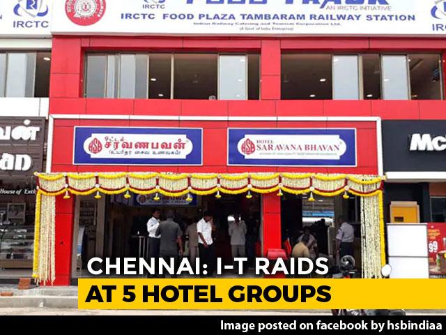 Video : 5 Restaurant Chains Including Saravana Bhavan Raided In Chennai