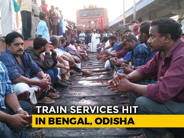 Video : Bharat Bandh Protests Affect Trains, Buses; Bengal, Kerala Hit