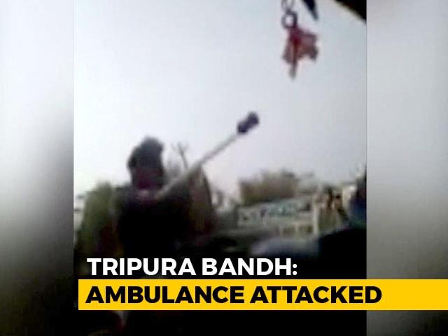 Video : Viral Video Shows Tripura Police Attacking Ambulance Carrying Injured Men