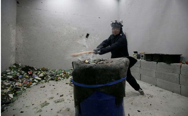 All The Rage: Beijing's 'Anger Room' Lets People Smash Away Their Stress