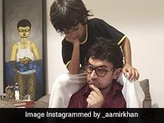 पापा आमिर खान के कंधों पर सवार होकर आजाद लगे सोचने, फैन्स बोले- तारे जमीं पर नहीं कंधो पर- देखें Photo