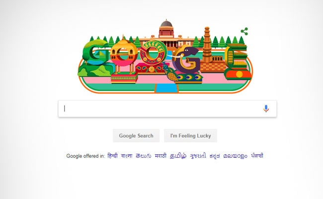 For 70th Republic Day, Google Doodle's Colourful Display