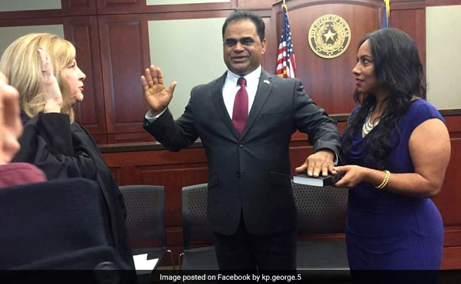 Indian-American KP George Takes Oath As Fort Bend County ...