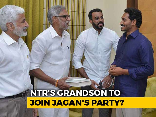 Video : NTR's Grandson, Whose Mother Is With BJP, All Set To Join Jagan Reddy's Party