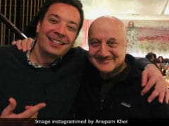 <i>The Tonight Show Starring</i> Anupam Kher And Jimmy Fallon. See Pic