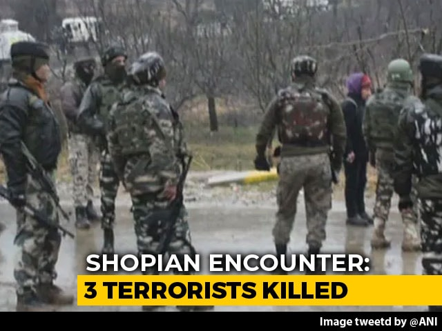 Video : IPS Officer's Brother Among 3 Terrorists Killed In Kashmir Encounter