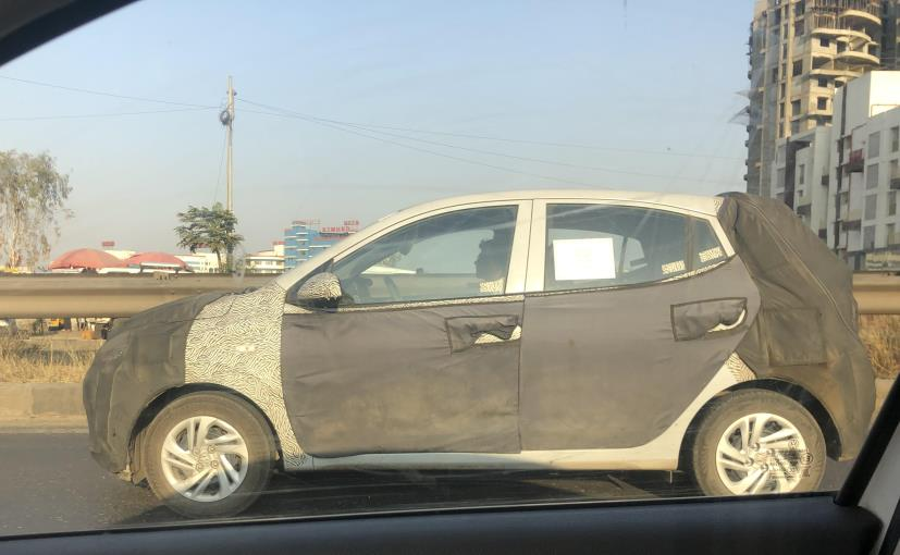 The prototype model of the new-gen Hyundai Grand i10 appears to be in its early stages