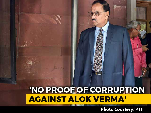 Video : No Proof Of Corruption Against Alok Verma: Ex-Top Court Judge Who Monitored Probe