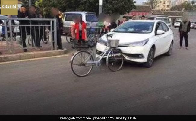 Car Damaged By Bicycle After Collision. Viral Pic Has Internet Baffled