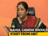 "Video: After Rahul Gandhi's ""Resign"" Demand, Nirmala Sitharaman's Comeback"
