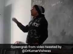 टीचर ने गाना गाकर सिखाई बच्चों को इंग्लिश, कुमार विश्वास बोले- हमें भी ऐसे सिखाते तो शशि थरूर बन जाते, देखें VIDEO