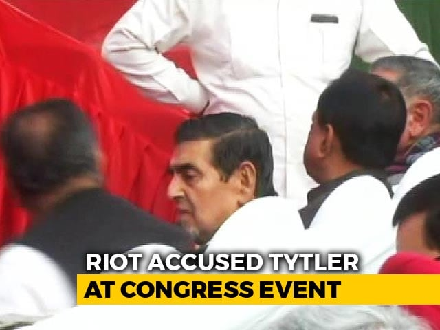 Video : Controversy Over Jagdish Tytler In Front Row At Sheila Dikshit's Takeover