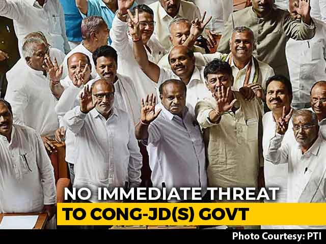Video : As 2 Lawmakers Pull Out, Congress Says Karnataka Government Stable