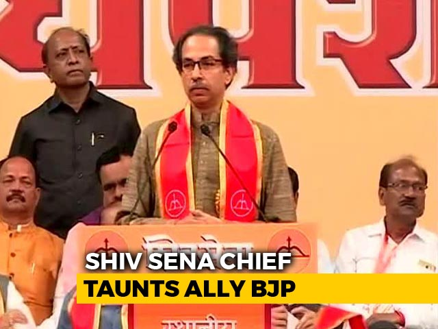 "Video : ""Is Ram Temple Also A Jumla For You?"" Shiv Sena Targets BJP"