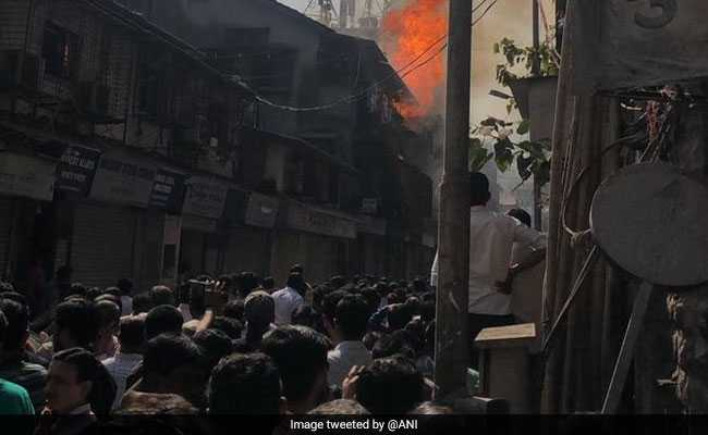 Fire Breaks Out At Building In Mumbai's Girgaon