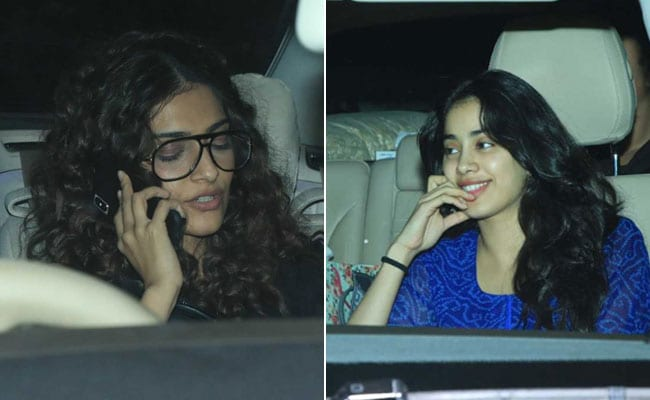Inside Sonam And Janhvi Kapoor's Stylish Mid-Week Get-Together. See Pics