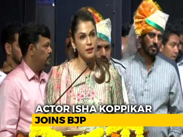 Video : Actor Isha Koppikar Joins BJP As Head Of Women Transport Wing