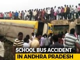 Video : School Bus Carrying 50 Children Falls Into Culvert In Andhra, 3 Critical