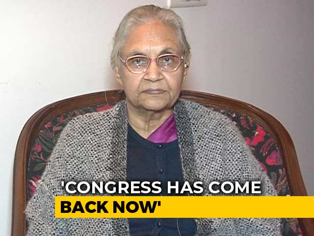 "Video : ""AAP Only Repeating What We Said"": Sheila Dikshit Rules Out Tie-Up"