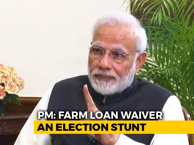 "Video : ""Political Stunts"": PM Modi On Farm Loan Waiver In Congress-Ruled States"