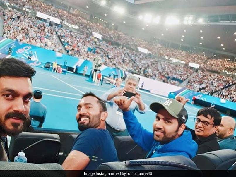 Rohit Sharma, Dinesh Karthik Watch Rafael Nadal Play At Australian Open