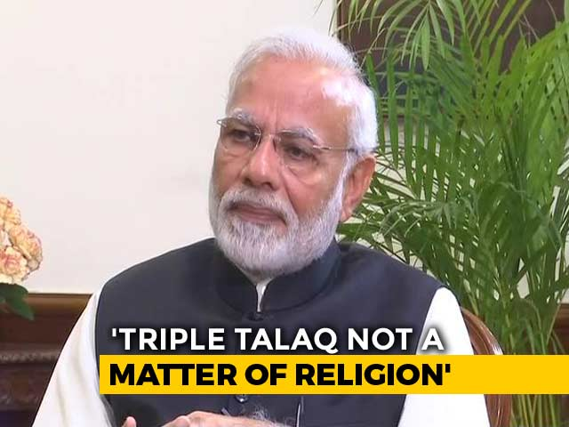 Video : Triple <i>Talaq</i> Matter Of Gender Equality, Sabarimala About Tradition: PM Modi