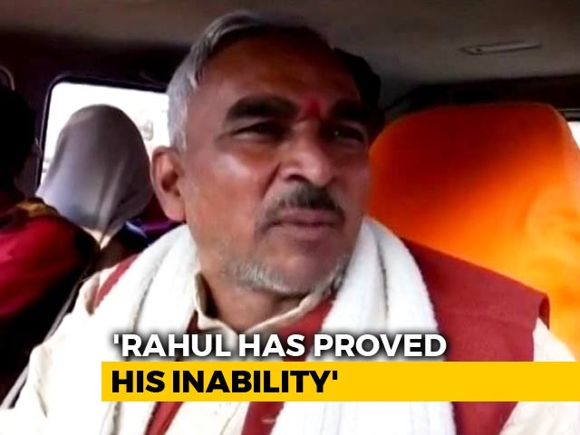 "Video : ""Rahul Gandhi Is Raavan, Priyanka Is Shurpanakha"": UP BJP Lawmaker"