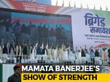 Video : Mamata Banerjee's Mega Rally A Hit As Anti-BJP Parties Unite In Kolkata