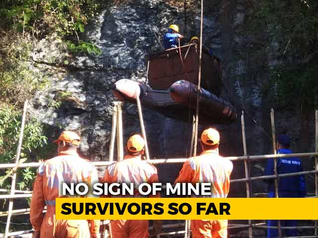 Video : Meghalaya Miners' Rescue Operation: Navy Divers Reach The Bottom Of The Mine