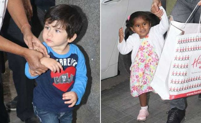 Taimur, Nisha And Baccha Party At Rannvijay Singha's Daughter Kainaat's Birthday Bash