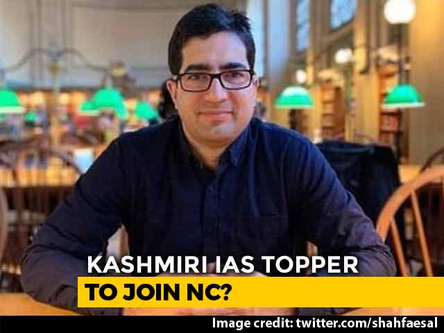 "Video : IAS Topper Shah Faesal Resigns, Says ""Kashmiri Lives Matter"" In Tweet"