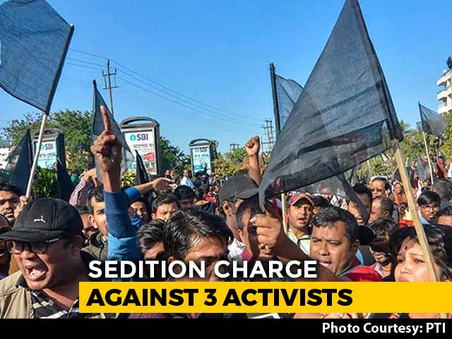 Video : As Protests Grow, Assam Cops File Sedition Case Against Three Activists