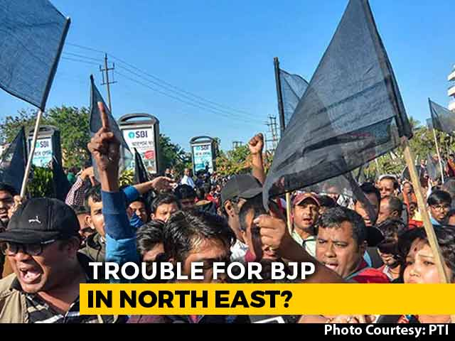 Video : Protests Against Citizen Bill Continue In Northeast, BJP On Back Foot