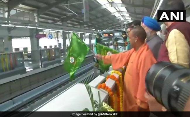 Yogi Adityanath Inaugurates 29.7 Kilometre Noida-Greater Noida Metro Line