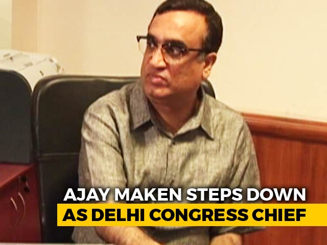 Video : Ajay Maken Resigns As Delhi Congress Chief, May Get New Central Role