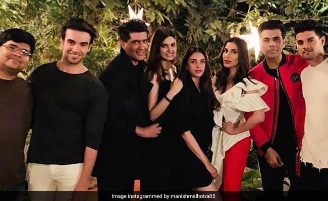 Karan Johar, Manish Malhotra, Aditi Rao Hydari, Nushrat Bharucha Were Diana Penty's Special Guest At The House Party