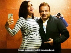 Pregnant Surveen Chawla Poses With 'The Bumpie' In New Pic