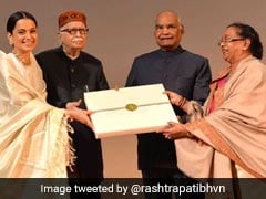 President Kovind Watches Kangana Ranaut's <I>Manikarnika</I>, Felicitates The Cast Of The Film