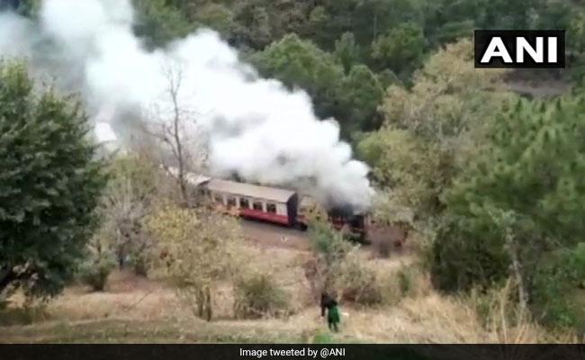 Fire On Himalayan Queen Train In Himachal Pradesh's Solan