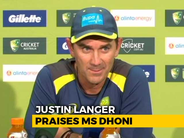 Video : Australian Coach Lavishes Praises On MS Dhoni After India's Thrilling Win