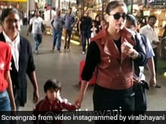 तैमूर अली खान का मम्मी करीना कपूर के साथ दिखा नया अंदाज, फोटोग्राफर्स को देखते ही करने लगे ऐसा, देखें Video