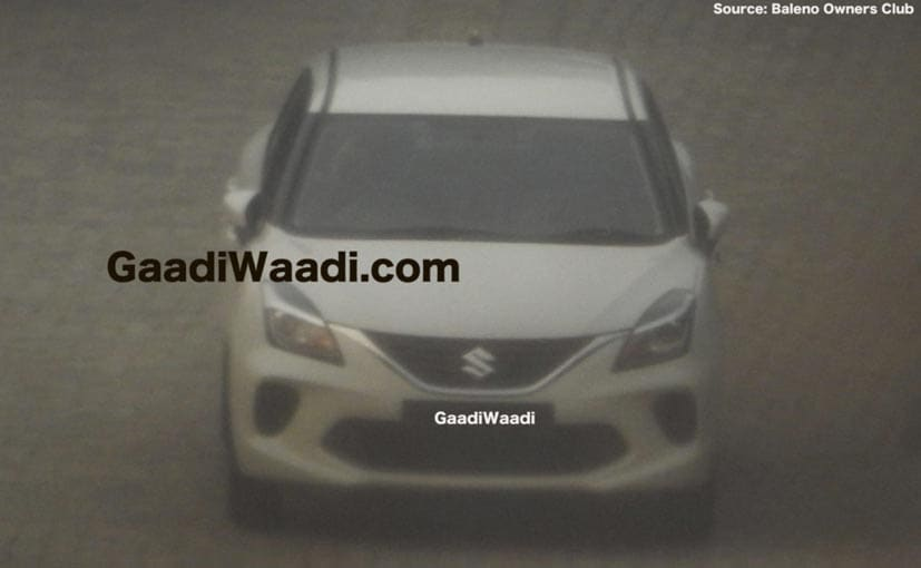 The new Maruti Baleno gets a new bumper and revised grille.