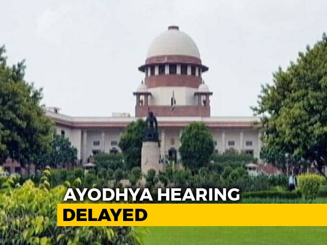 Video : Judge Not Available, Ayodhya Case Won't Be Heard By Top Court On Tuesday