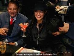 Sushmita Sen's Dinner Date With Father Shubeer Sen And Boyfriend Rohman Shawl
