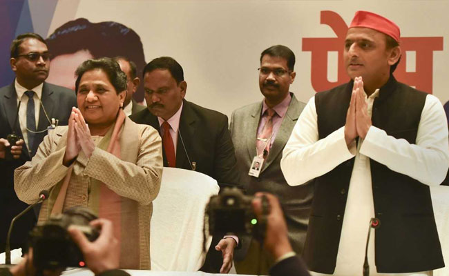 Mayawati Akhilesh Yadav Announce Seat Sharing Details In Up Door